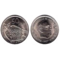 Estado Español. 1957*(71). 50 Pesetas (SC)