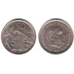 Estado Español. 1957*(60). 50 Pesetas (MBC-)