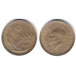 (1025) Turquía. 1992. 5000 Lira (MBC)