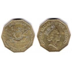 (99) Belice. 1991. 1 Dollar (MBC+)