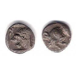 Mysia (Kyzikos). 480-450 a.C. Tritartemorion (MBC) (Plata)