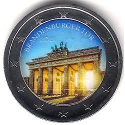 Europa. Sin Fecha. 2 Euro (SC) Brandenburgo. Coloreada