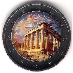Europa. Sin Fecha. 2 Euro (SC) Acropolis. Coloreada