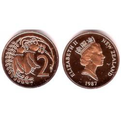 (59) Nueva Zelanda. 1987. 2 Cents (Proof)