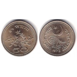 (32) Pakistán. 1972. 50 Paisa (EBC)