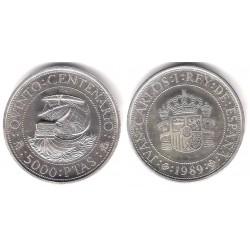 España. 1989. 5000 Pesetas (Proof) (Plata) 54 gr. de .925