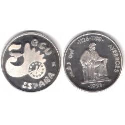 España. 1991. 5 Ecu (SC) (Plata) 33,50 gr. de .900