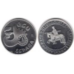 España. 1990. 5 Ecu (SC) (Plata) 33,50 gr. de .900