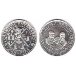 España. 1990. 2000 Pesetas (SC) (Plata) 27 gr. de .925