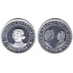 España. 1989. 2000 Pesetas (SC) (Plata) 27 gr. de .925