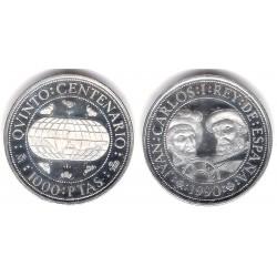 España. 1990. 1000 Pesetas (SC) (Plata) 13,5 gr. de .925