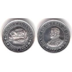 España. 1990. 200 Pesetas (SC) (Plata) 3,37gr. de .925