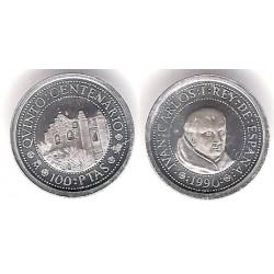 España. 1990. 100 Pesetas (SC) (Plata) 1,68gr. de .925