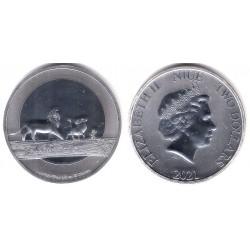 Niue. 2021. 2 Dollars (SC) (Plata)