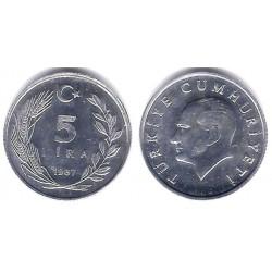 (963) Turquía. 1987. 5 Lira (SC-)