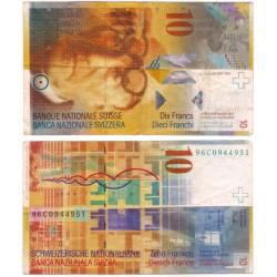 (66b) Suiza. 1996. 10 Francs (BC)