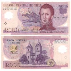 (160a) Chile. 2004. 2000 Pesos (MBC+)