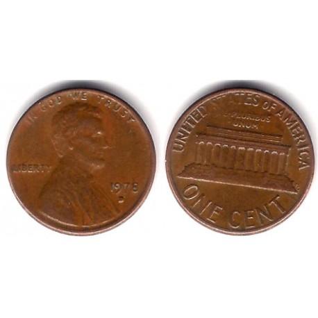 (201) Estados Unidos de América. 1978(D). 1 Cent (MBC)