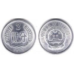 (2) China. 1983. 2 Fen (SC)