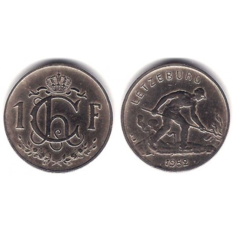(46.2) Luxemburgo. 1952. 1 Franc (MBC)