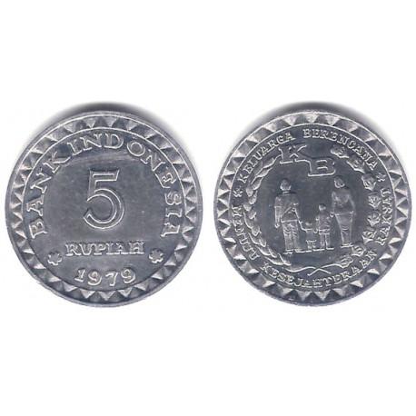 (43) Indonesia. 1979. 5 Rupiah (SC-)