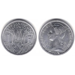(6.1) Reunión. 1964. 1 Franc (SC)
