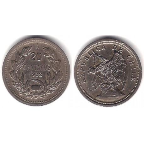 (167.2) Chile. 1932. 20 Centavos (MBC)