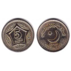 (65) Pakistán. 2002. 5 Rupees (MBC)