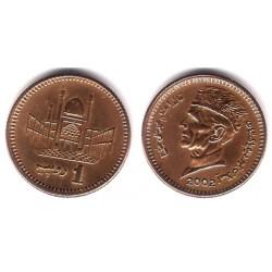 (62) Pakistán. 2002 .1 Rupee (MBC)