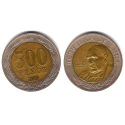 (235) Chile. 2002. 500 Pesos (MBC-)
