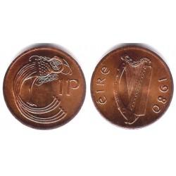 (20) Irlanda. 1980. 1 Penny (SC)