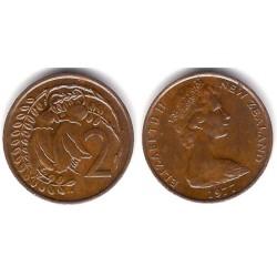 (32.1) Nueva Zelanda. 1977. 2 Cents (MBC)