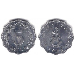 (7) Malta. 1972. 5 Mils (SC-)
