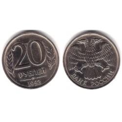 (Y314) Rusia. 1992. 20 Roubles (MBC)