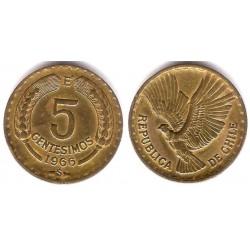 (190) Chile. 1966. 5 Centesimos (MBC+)