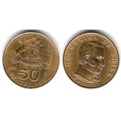 (196) Chile. 1971. 50 Centesimos (SC)