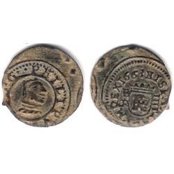 Felipe IV. 1663. 4 Maravedi (MBC+) Ceca de Burgos R