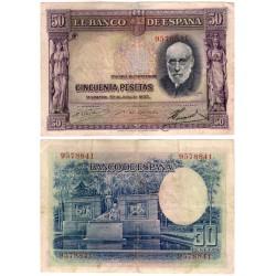 España. 1935. 50 Pesetas (BC) Sin Serie. Manchas