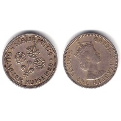 (36) Mauricio. 1960. 1/4 Rupee (MBC)