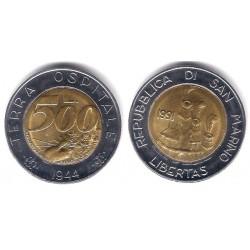 (269) San Marino. 1991. 500 Lira (SC)