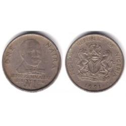 (14) Nigeria. 1991. 1 Naira (MBC-)