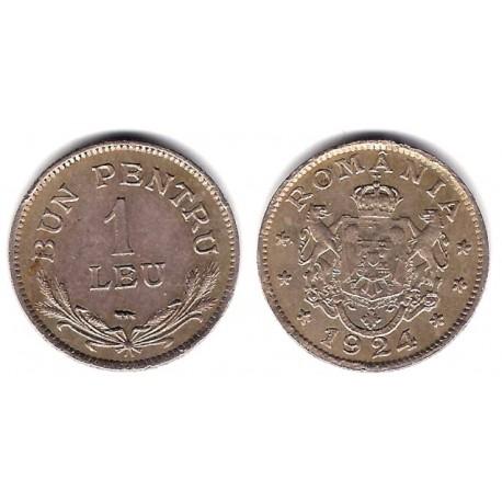 (46) Rumania. 1924. 1 Leu (MBC)