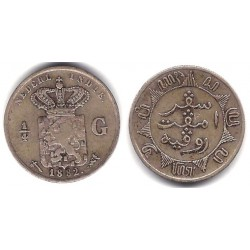 (305) Indias Holandesas. 1882. 1/4 Gulden (MBC-) (Plata)