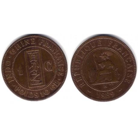 (1) Indochina Francesa. 1889(A). 1 Cent (MBC)