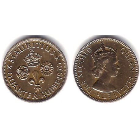 (36) Mauricio. 1970. ¼ Rupee (MBC+)