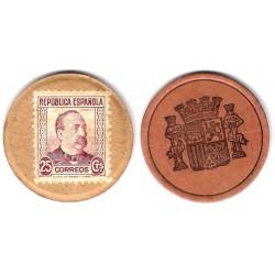 España (II República). 1937. 25 Céntimos (MBC)