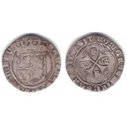 Fernando V. 1513-16. 1 Real (MBC) (Plata) Ceca de Navarra