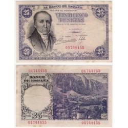 Estado Español. 1946. 25 Pesetas (MBC) Sin Serie. Manchas