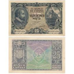 Estado Español. 1940. 25 Pesetas (EBC-) Serie D