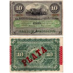 Cuba Colonial. 1896. 10 Pesos (MBC)